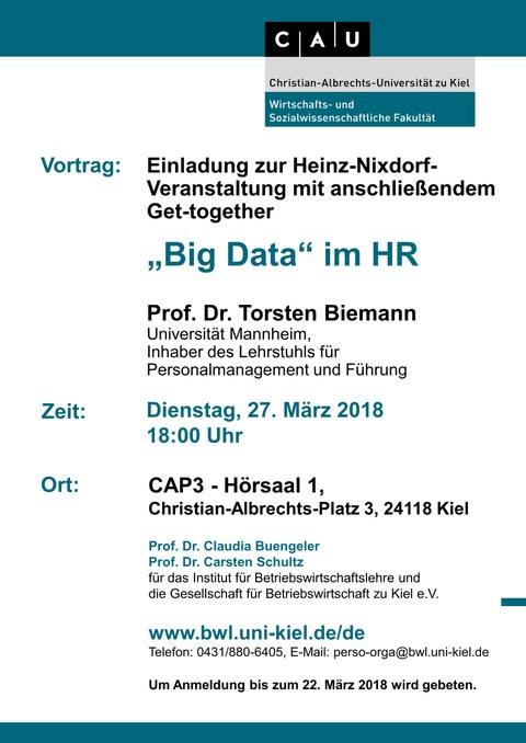 Poster Talk Prof. Dr. Torsten Biemann