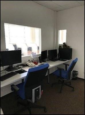 Regieraum des Experimentallabors