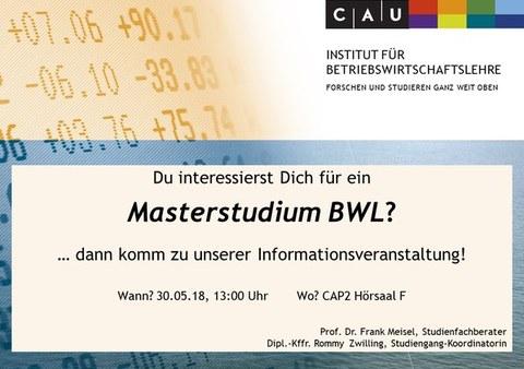 InfoVeranstaltung BWL-Master